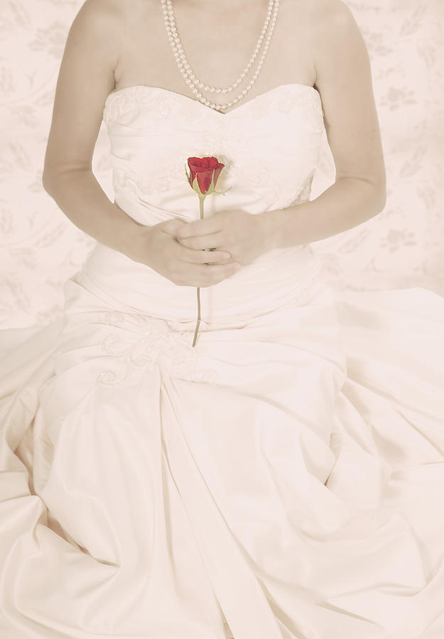 Lady With A Rose Photograph