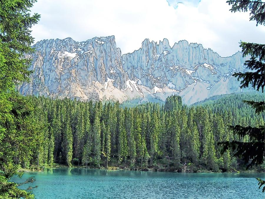 Lake Carezza Dolomites Italy Photograph  - Lake Carezza Dolomites Italy Fine Art Print