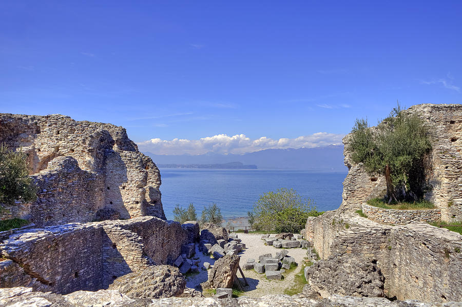 Grottoes Of Catullus Photograph - Lake Garda by Joana Kruse