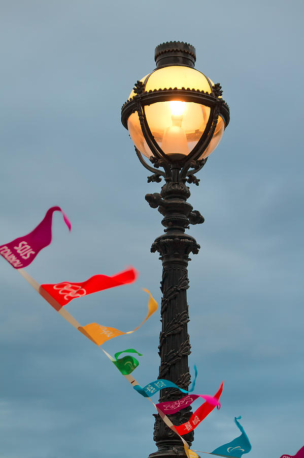 London Photograph - Lamp Light by Shirley Mitchell