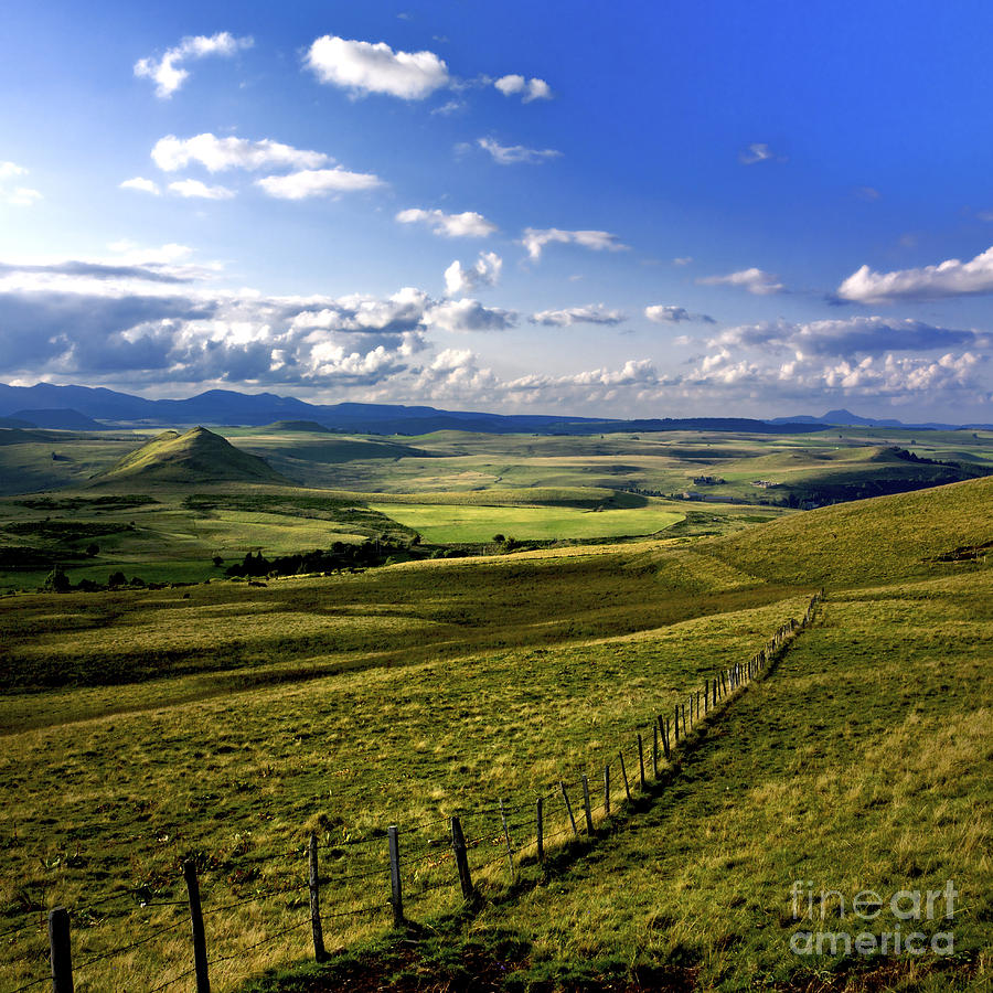 landscape of Cezallier. Auvergne. France Photograph