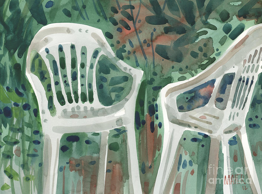 Lawn Chairs Painting