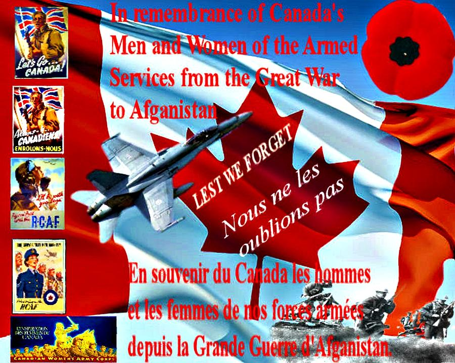 Lest We Forget Canada Digital Art