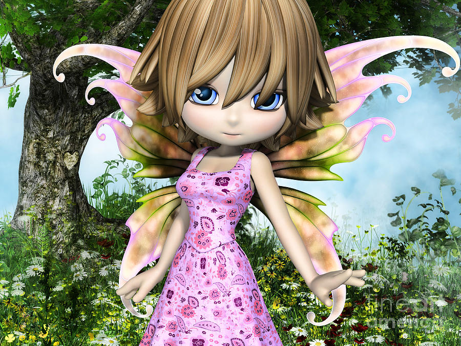 Lil Fairy Princess Digital Art
