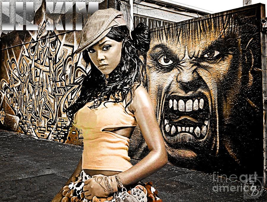 Lil Kim Digital Art