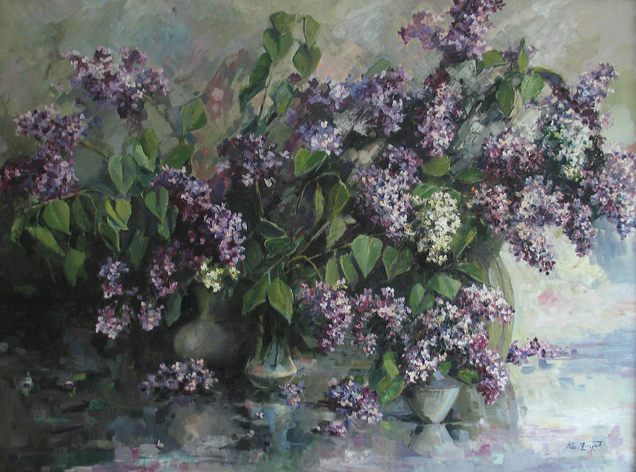 Lilacs Painting