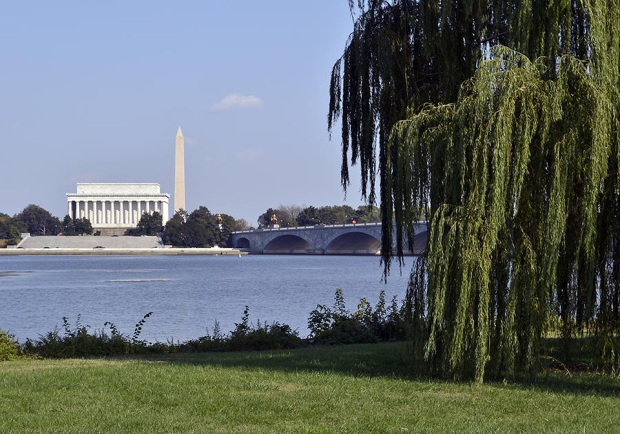 Lincoln Memorial And Washington Monument From The Potomac River Photograph