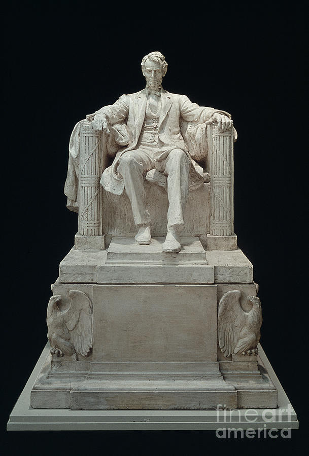 19th Century Photograph - Lincoln Memorial: Statue by Granger