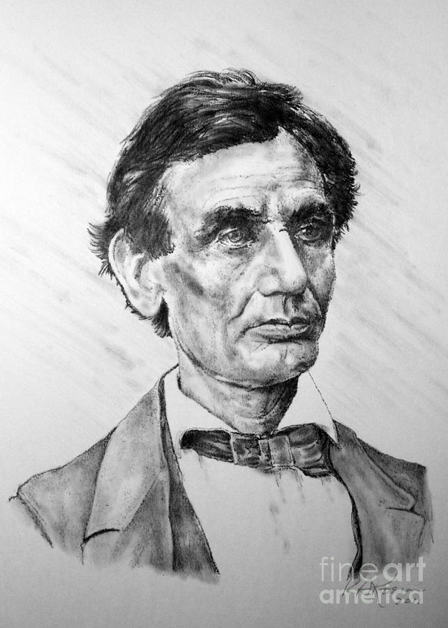 Lincoln Drawing  - Lincoln Fine Art Print