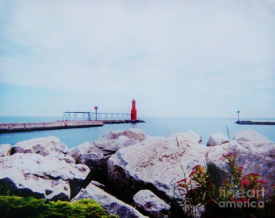 Photo Photograph - Little Red Lighthouse by Marsha Heiken