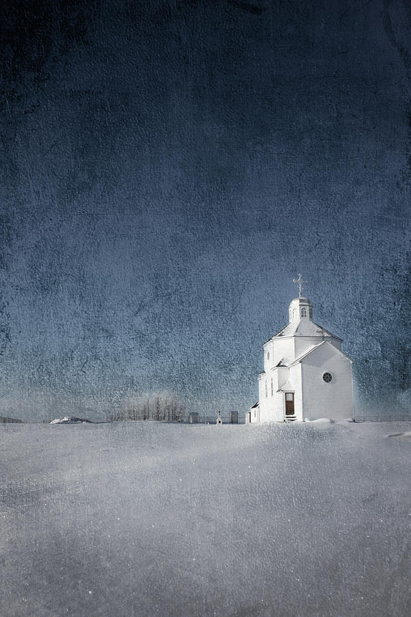 Little White Church Photograph  - Little White Church Fine Art Print