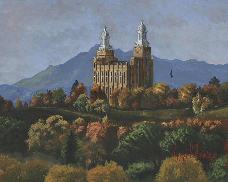 Logan Temple Painting  - Logan Temple Fine Art Print