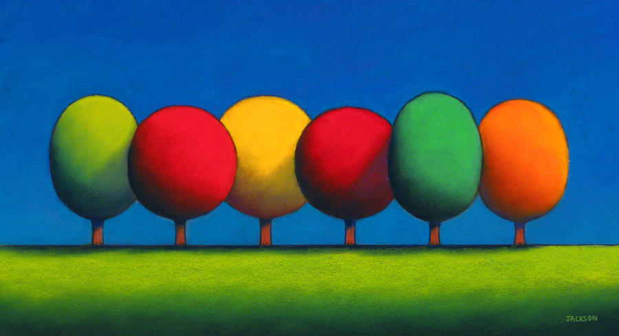 Lollipop Trees Painting  - Lollipop Trees Fine Art Print