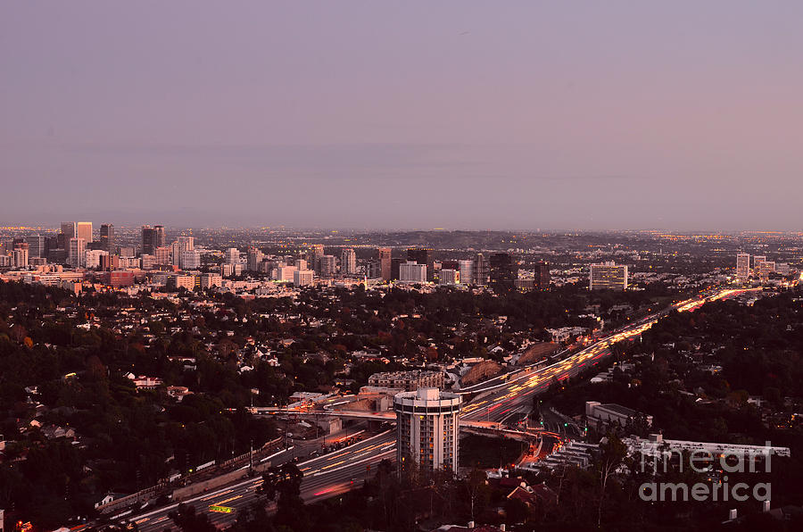 Los Angeles Evening Photograph  - Los Angeles Evening Fine Art Print