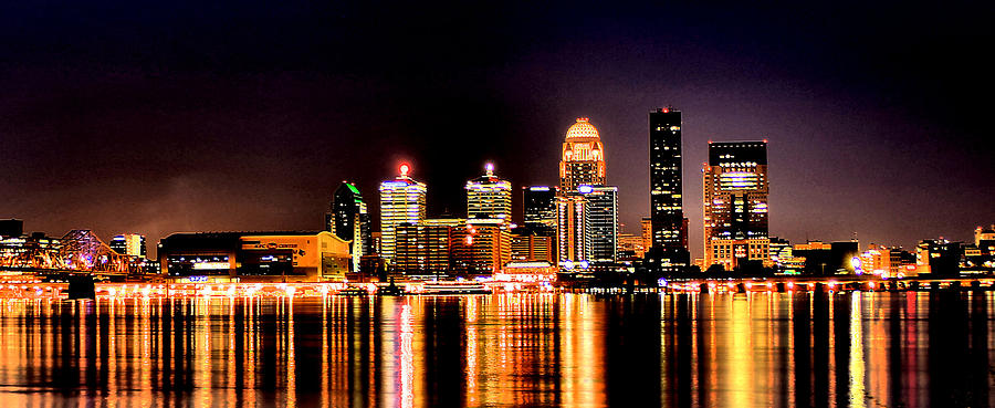 Louisville Skyline At Night by Matthew Winn