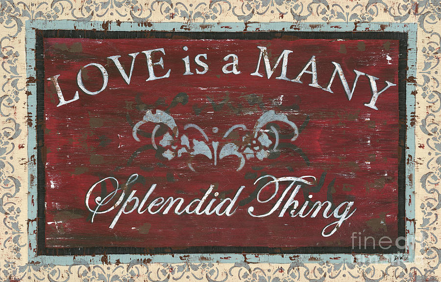 Love Is A Many Splendid Thing Painting  - Love Is A Many Splendid Thing Fine Art Print