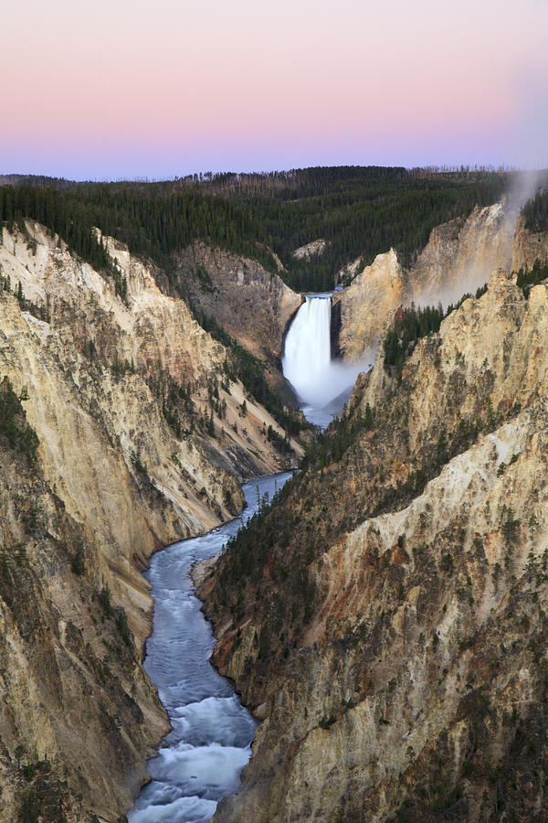 Lower Falls On The Yellowstone River Photograph