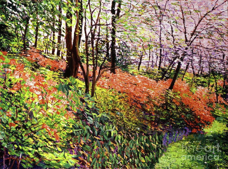 Magic Flower Forest Painting  - Magic Flower Forest Fine Art Print