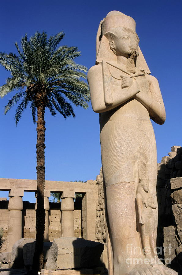 Majestic Statue Of Ramses II At Karnak Temple Photograph  - Majestic Statue Of Ramses II At Karnak Temple Fine Art Print
