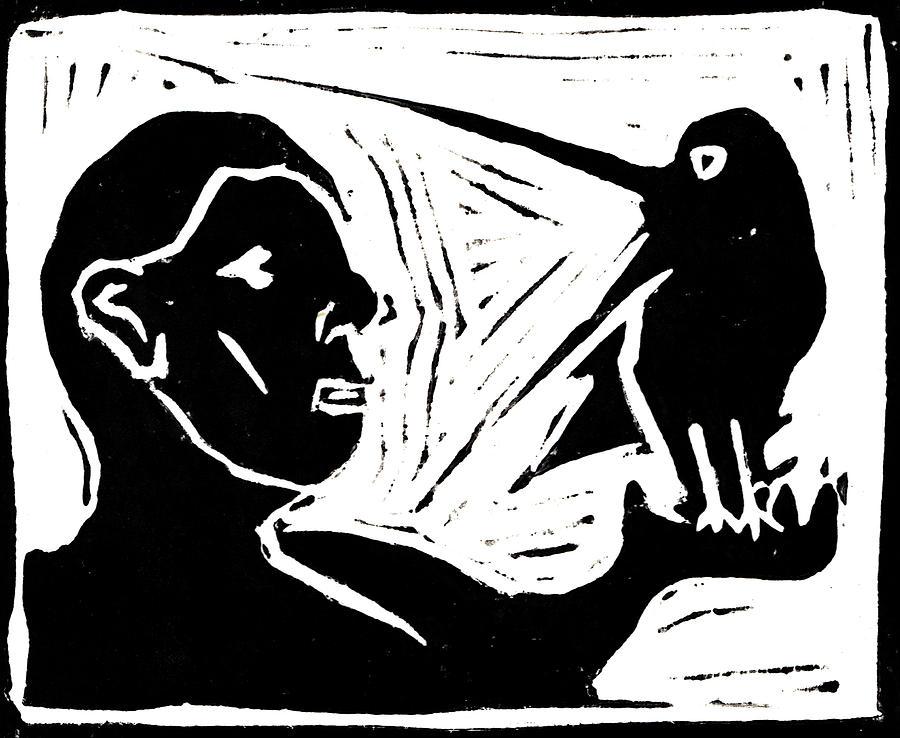 Man Holding A Bird Painting