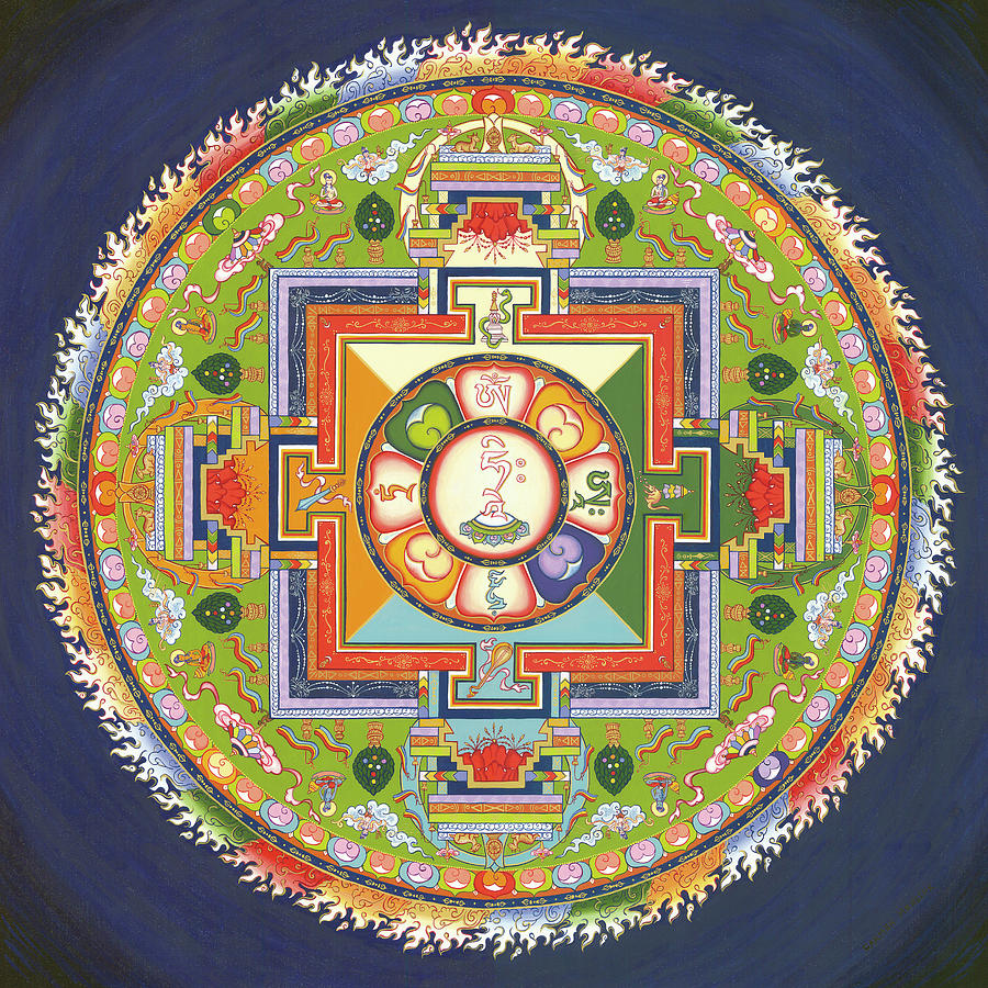 Mandala Of Avalokiteshvara           Painting