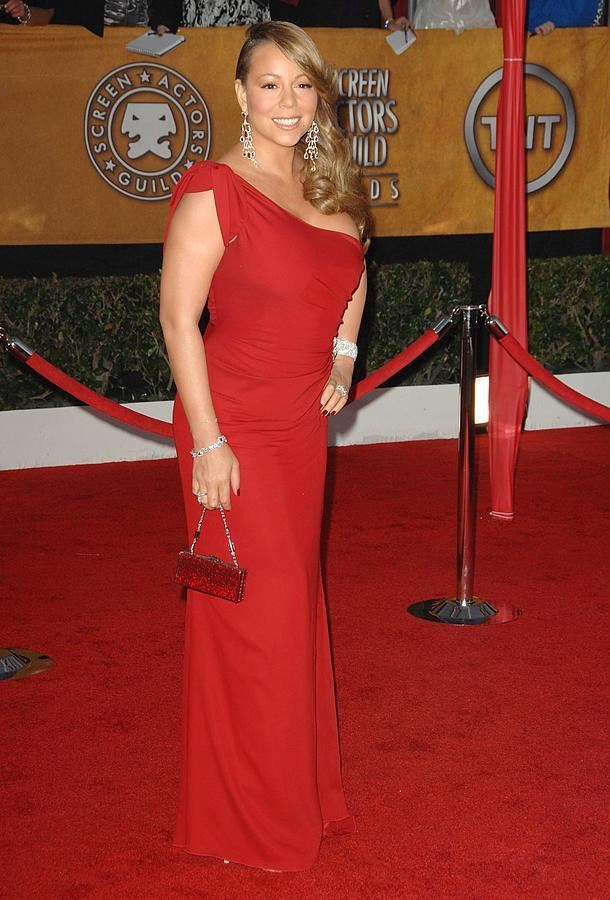 Mariah Carey Wearing A Valentino Gown Photograph  - Mariah Carey Wearing A Valentino Gown Fine Art Print