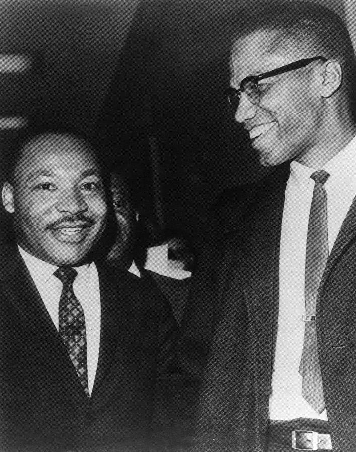 Martin Luther King Jr., And Malcolm X Photograph