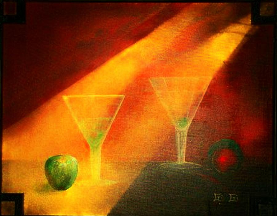 Martini Time Painting  - Martini Time Fine Art Print