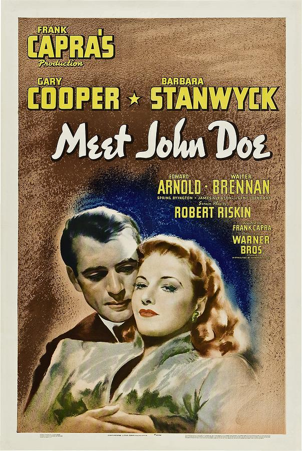 Meet John Doe, Poster Art, Gary Cooper Photograph