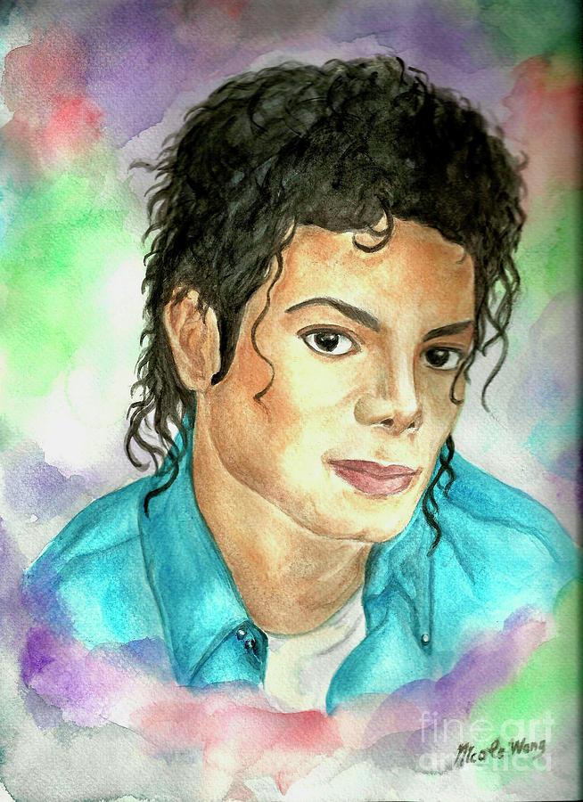 Michael Jackson - The Way You Make Me Feel Painting