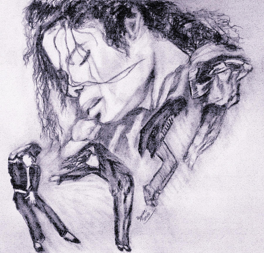 Michael Jackson Dance Drawing  - Michael Jackson Dance Fine Art Print