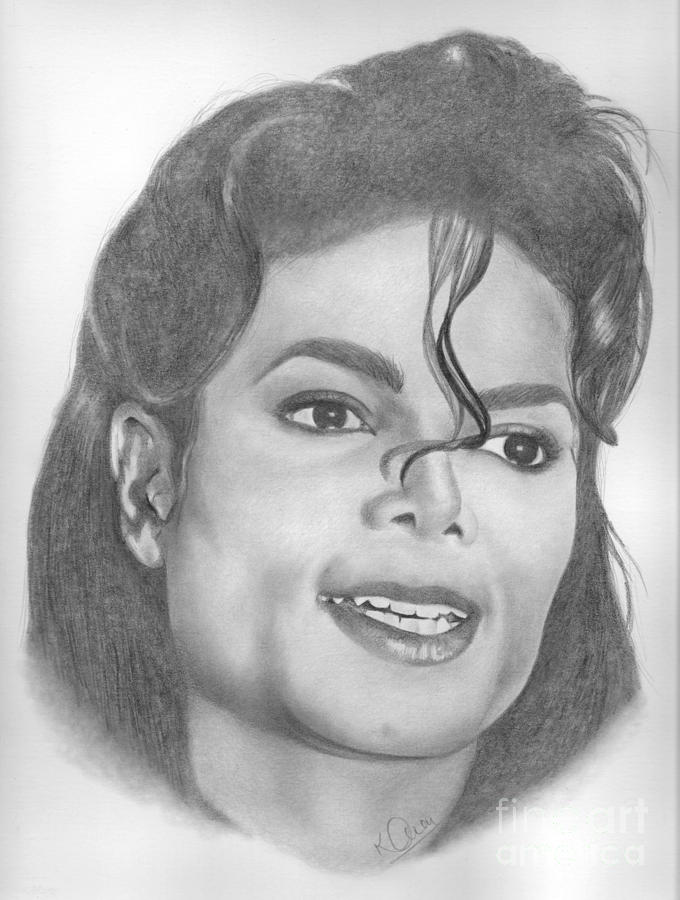 Michael Jackson Drawing  - Michael Jackson Fine Art Print