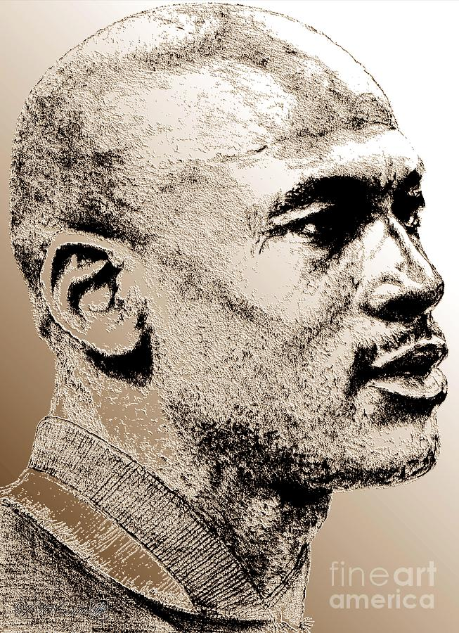 Michael Jordan Digital Art - Michael Jordan In 1990 by J McCombie