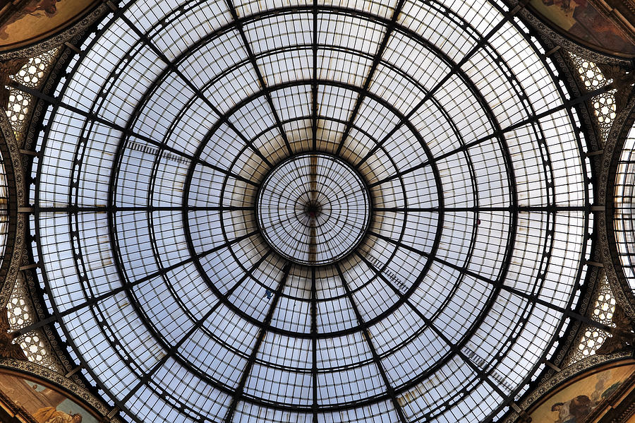 Glass Roof Photograph - Milan Galleria Vittorio Emanuele II by Joana Kruse