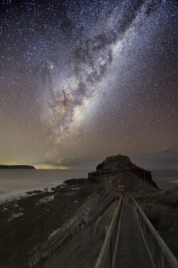 Milky Way Over Cape Schanck, Australia Photograph