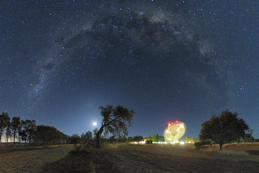 Milky Way Over Parkes Observatory Photograph