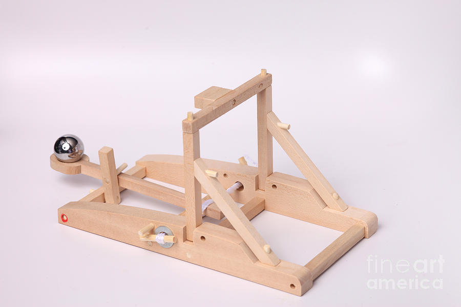 Model Catapult Photograph  - Model Catapult Fine Art Print