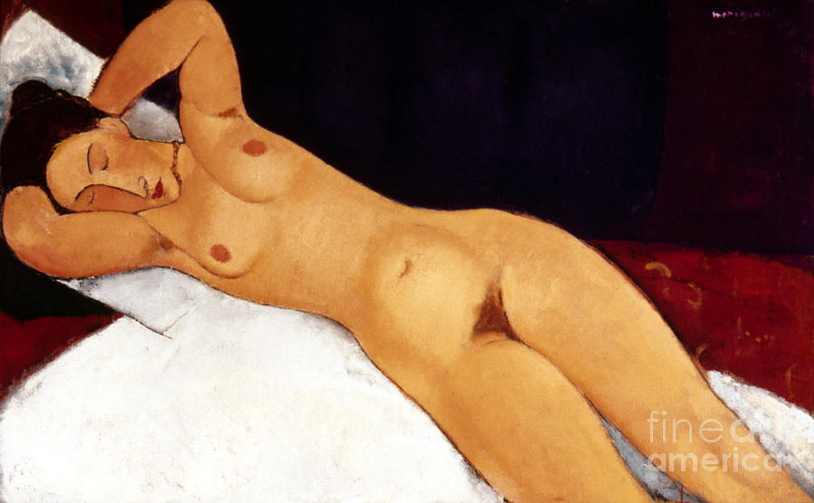 Modigliani Nude 1917 Painting