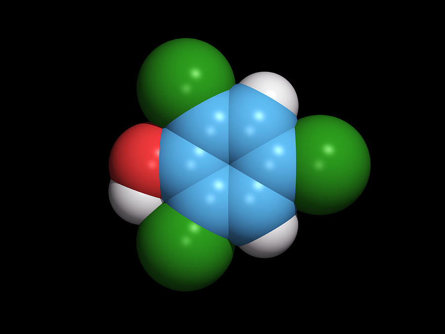 Molecule Of A Component Of Tcp Antiseptic Photograph