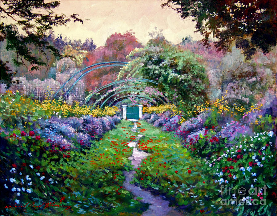Monet by david lloyd glover for Monet paintings images