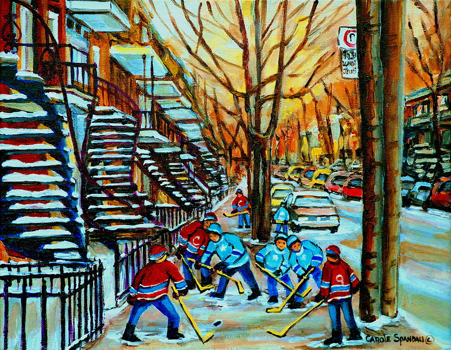 Montreal Hockey Paintings Painting  - Montreal Hockey Paintings Fine Art Print
