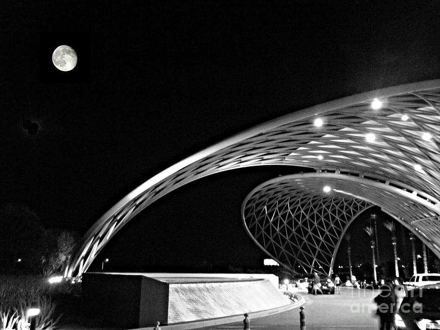 Architecture Photograph - Morongo Moon by Kevin Moore