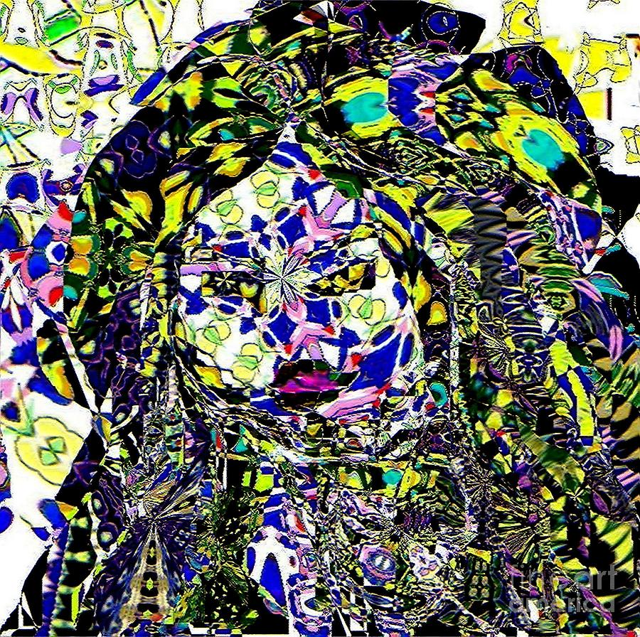 Mosaic Girl Painting