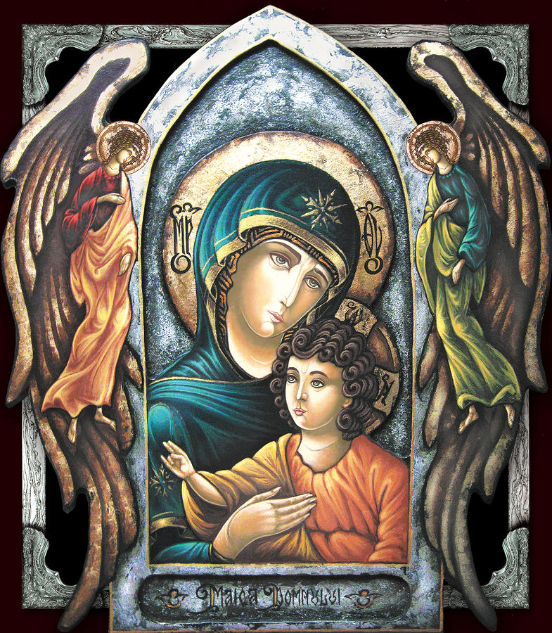 Mother Of God Painting  - Mother Of God Fine Art Print