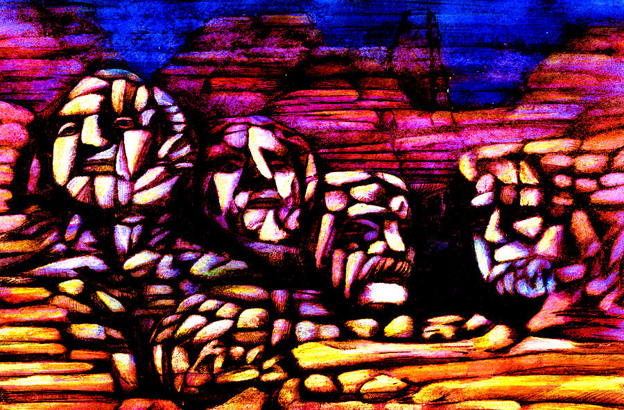 Mount Rushmore Mixed Media