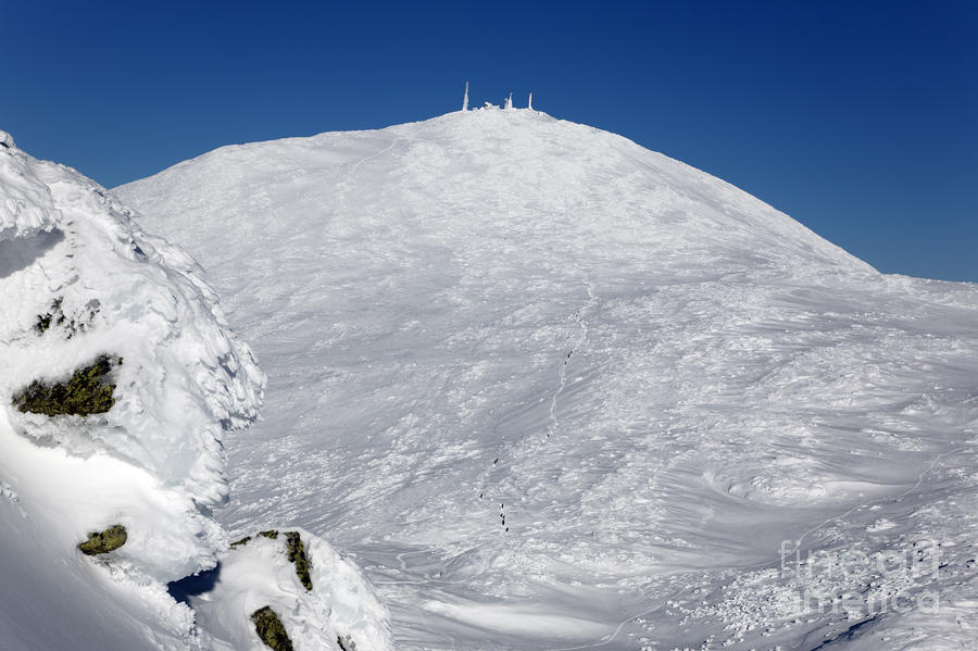 Mount Washington - White Mountain New Hampshire Usa Winter Photograph