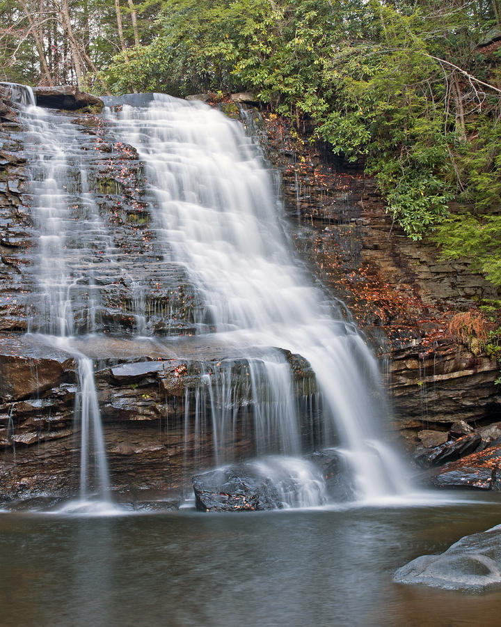 Muddy Creek Falls In Swallow Falls State Park Maryland Photograph