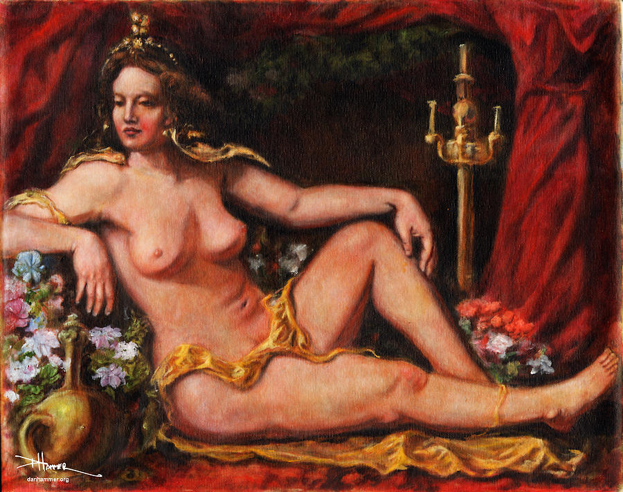 My Odalisque Painting  - My Odalisque Fine Art Print