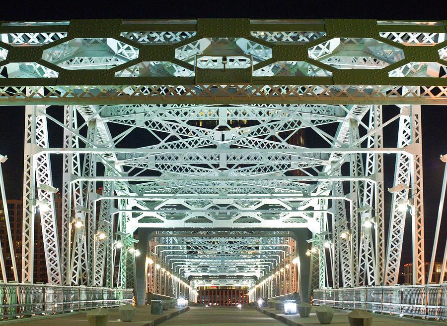 Nashville By Night Bridge 2 Photograph