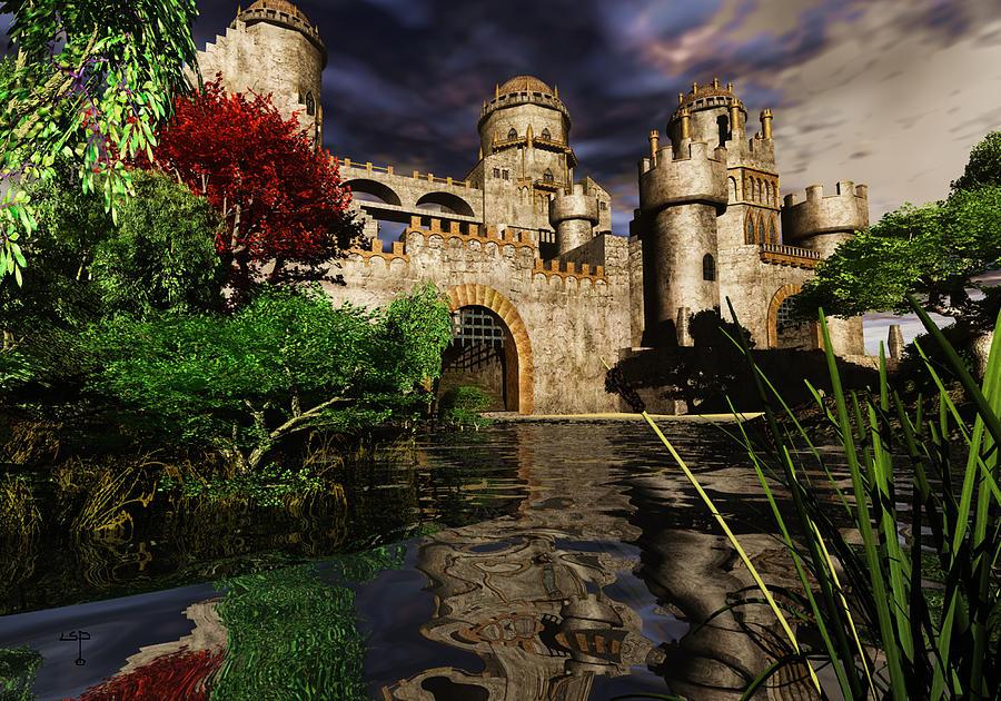 Natalies Castle Mixed Media